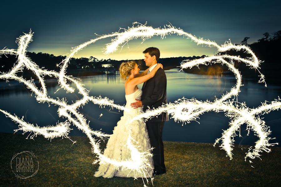 charleston sparkler wedding photography by Diana Deaver