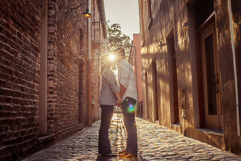Charleston Cobblestone Engagement Session
