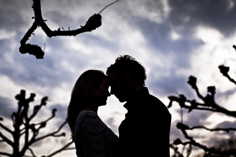 Couple Silhouette with Trees