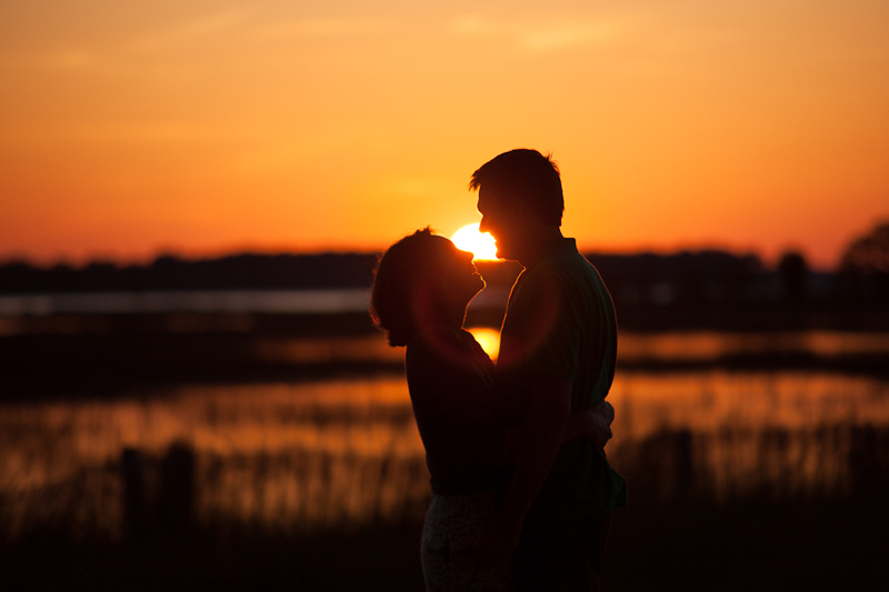 Engagement Session Sunset Silhouette