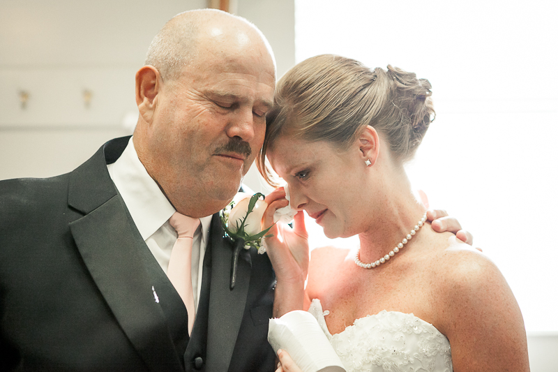 father of the bride with bride