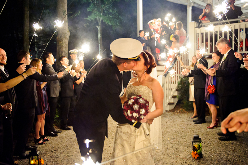 sparkler wedding sendoff