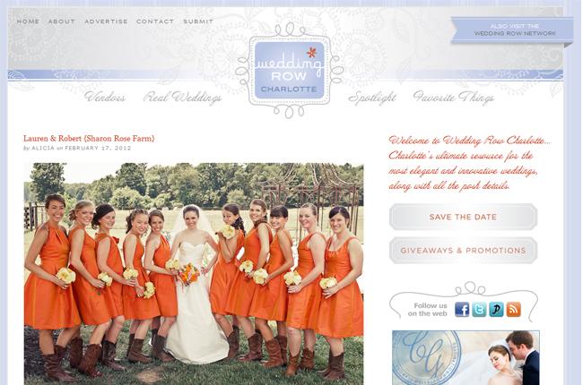 Lauren and Robert Wedding Row Charlotte