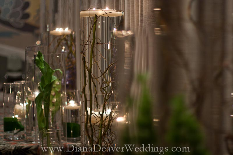 Glass flowers and candles wedding decorations captured by wedding glass flowers and candles wedding decorations captured by wedding photographer diana deaver in charleston sc 2 junglespirit Choice Image