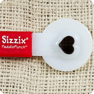 sizzix paddle punch heart photography branding marketing packaging