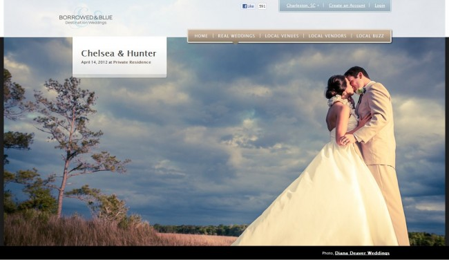 Diana Deaver Wedding Photographey featured on borrowed and blue 2