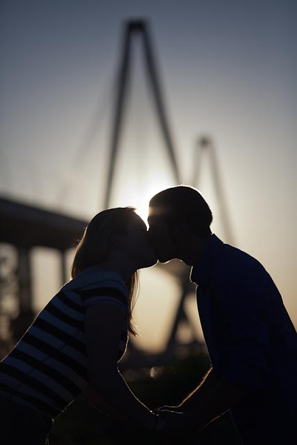 Engagement Session With Ravenel Bridge Charleston SC