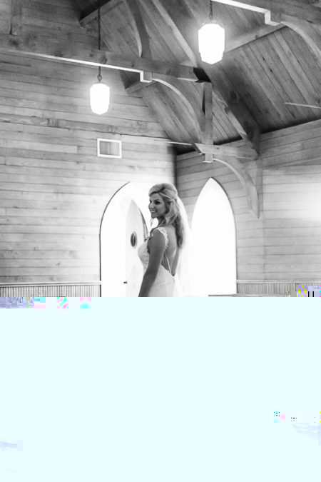 Wedding day bridal portrait at Pawley's Island Community Church