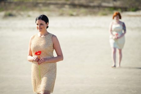 beach bridesmaid kiawah