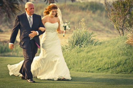 bride and father ceremony kiawah