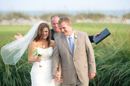 bride and groom kiawah