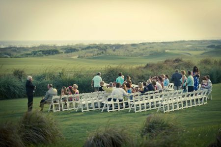 wedding congregation kiawah island lawn