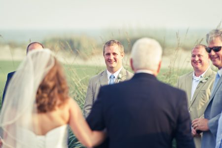 groom sees bride kiawah