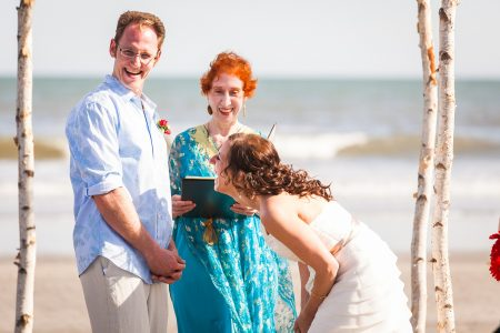 laughing bride and groom kiawah