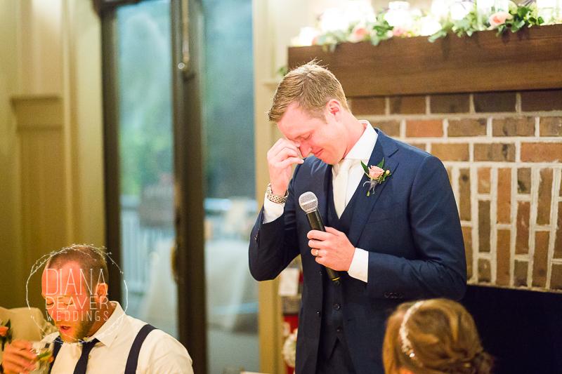 wedding day emotion ION Creek Club wedding photographed by Diana Deaver Weddings