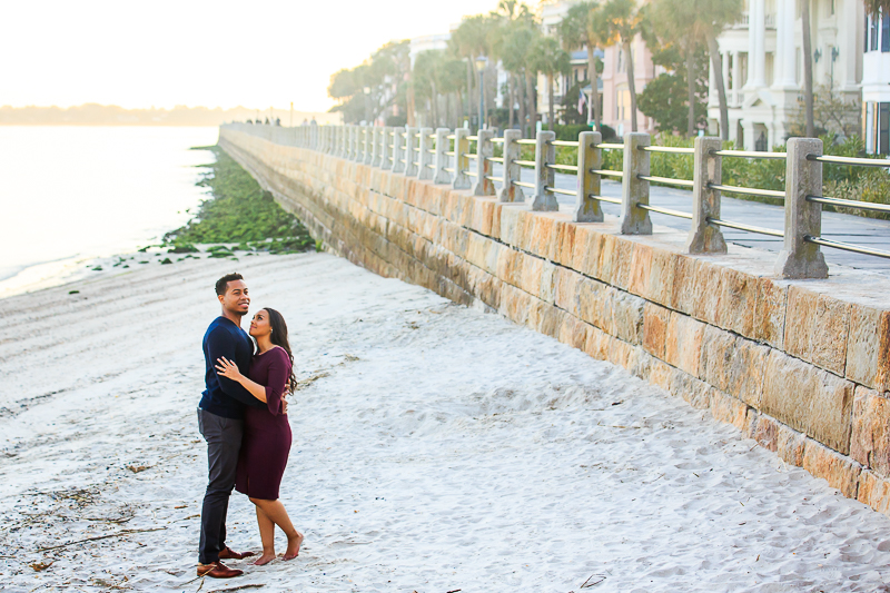 winter and fall engagement session downtown charleston sc photographed by Diana Deaver Weddings (15)