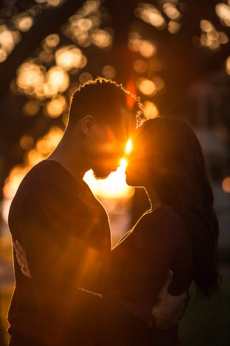 warm light lensflare engagement photos downtown charleston sc photographed by Diana Deaver Weddings (1)