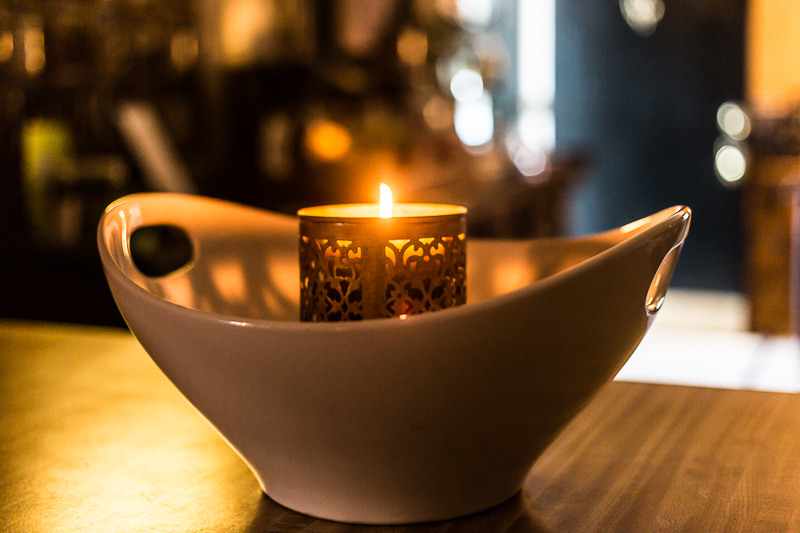 candle creating calmness