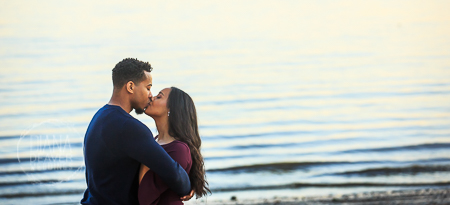 waterfront engagement session photos