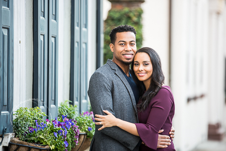winter and fall rainbow rowengagement session downtown charleston sc photographed by Diana Deaver Weddings (9)