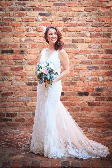 bridal portrait old cigar warehouse greenville