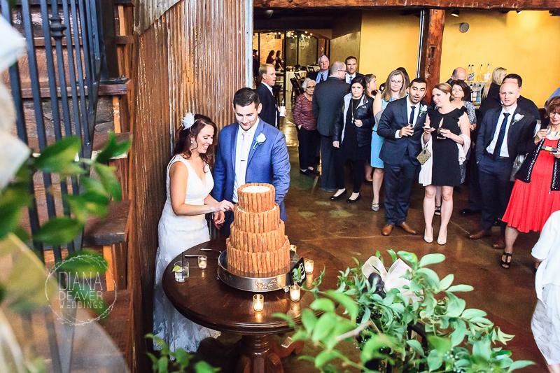 wedding photos old cigar warehouse greenville sc