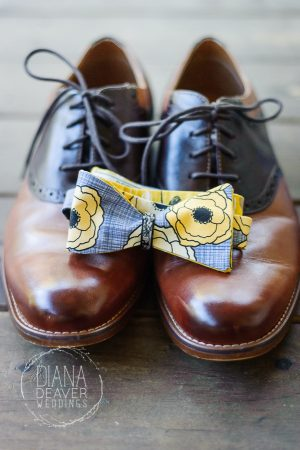 groom shoes and bowtie