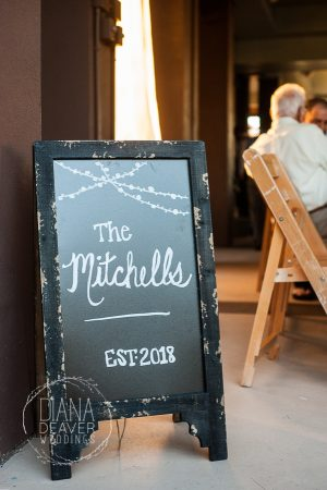wedding sandwich sign