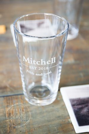 custom wedding beer tumbler photo wedding coaster